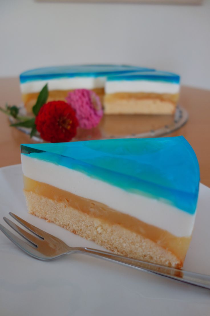 Blue Hawaii Torte oder auch Swimmingpool Torte