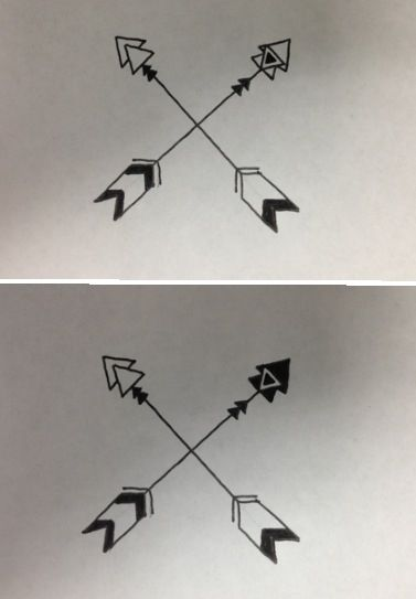 Best friend matching tattoos!!!! @Courtney Baker Baker Cross  different version of arrows