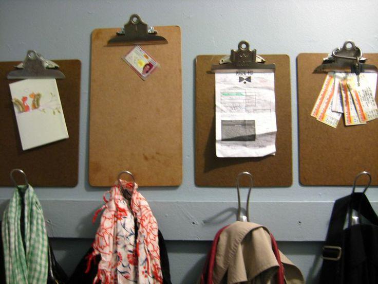 WALL - clipboard coat rack