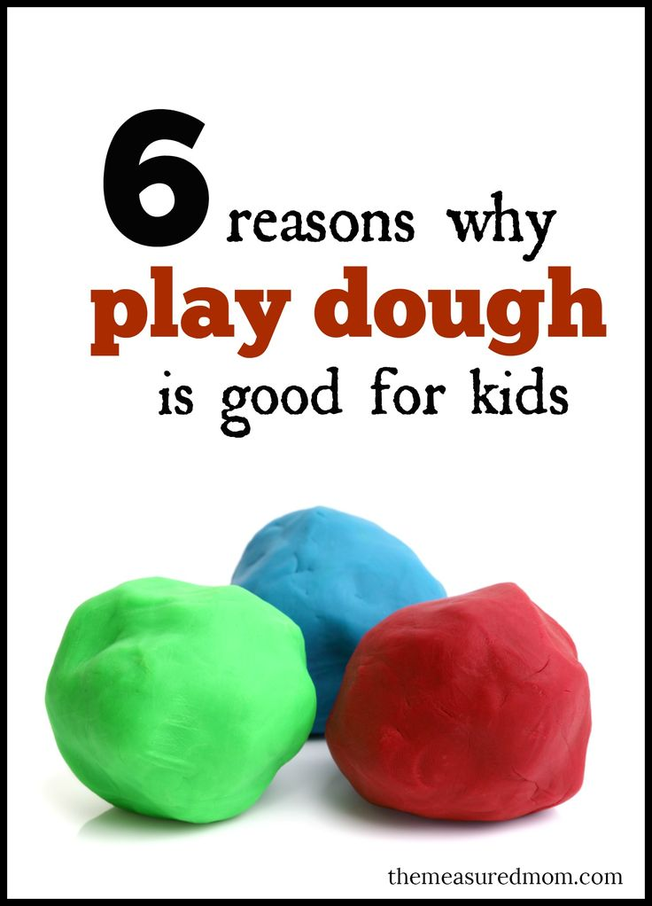 Find out why to get out the play dough -- here are six reasons why play dough is important. And check out my Pinterest board for ways to help your kids play with it for more than five minutes!