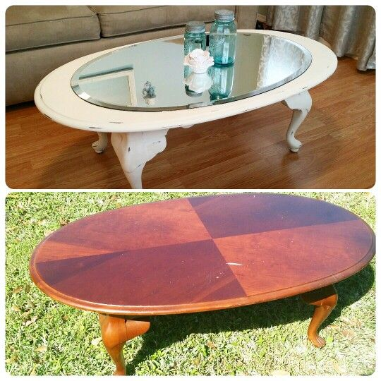 Before And After Coffee Table Using Annie Sloan Chalk Paint Whitedecor Coffeetable