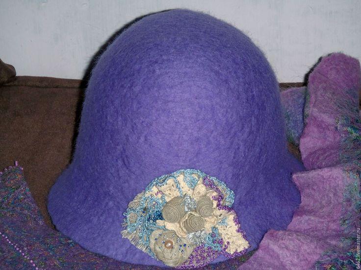 """Купить Шляпа """"Фимиам"""" и аксессуары - сиреневый, пейсли, шляпа, шляпка женская, клош, шляпка с цветами"""