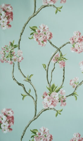Nina Campbell Wallpaper  Orchard Blossom available from wallpaper brokers.com.au