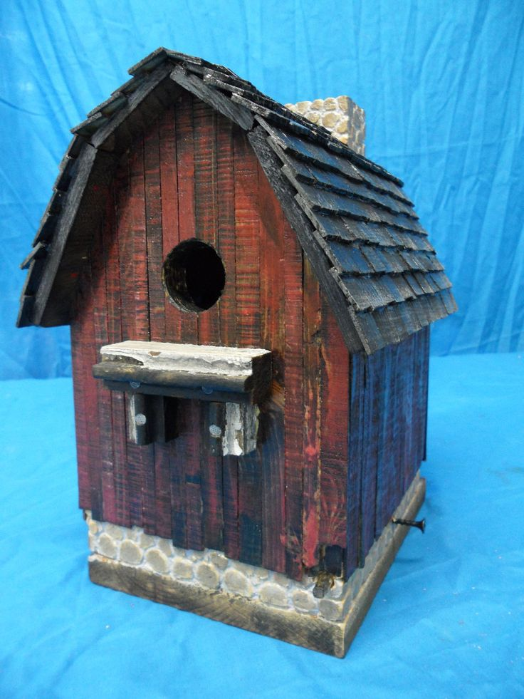 Vintage barn birdhouse rustic barn antique barn old - Old barn wood bird houses ...