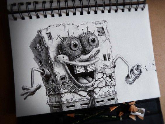 Distroy  des personnages de dessins animés en version obscure par Pez  Dessein de dessin