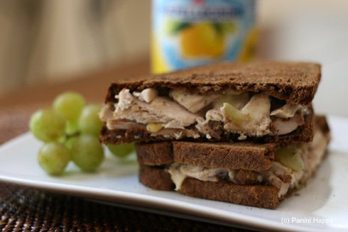 Chicken-Grape Salad & Gruyere Panini | So many sandwiches! | Pinterest ...