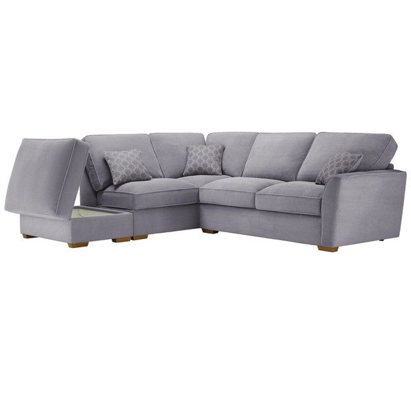 Silver Fabric Sofas Corner Sofa Right Hand Nebraska Range Oak Furnitureland Corner Sofa With Storage