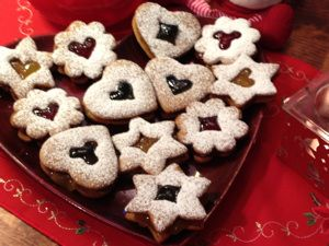 Sweet Gingerbread cookies with Candy Windows
