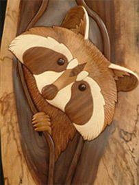 raccoon Intarsia Bing Imágenes Ideas siluetas