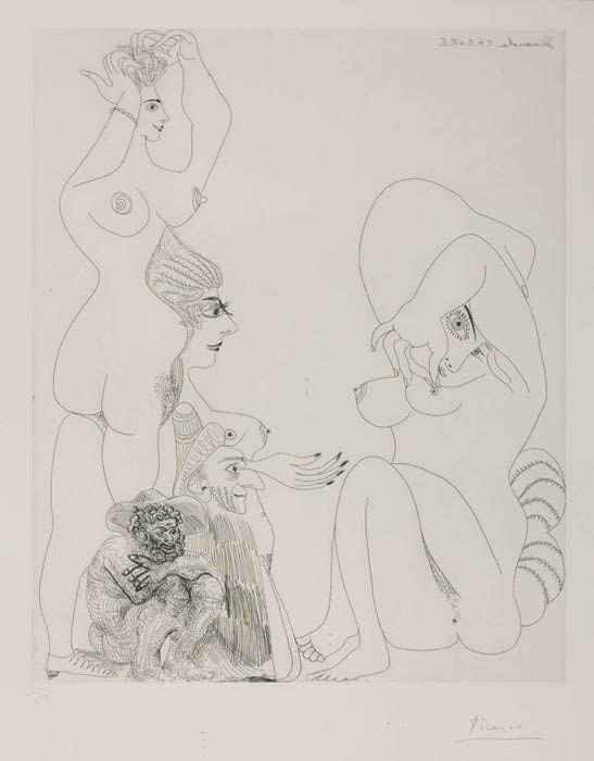 Picasso erotic scene
