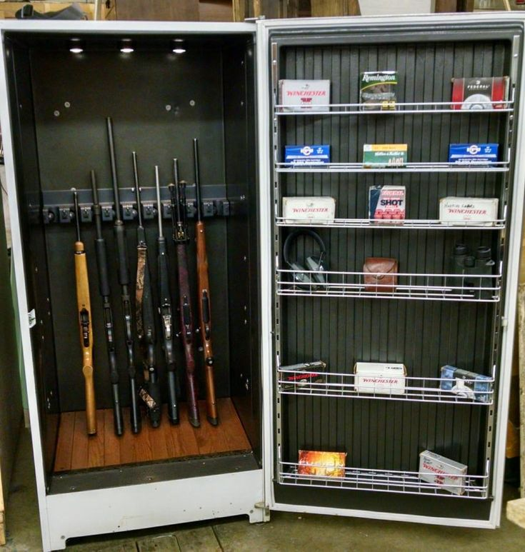 Freezer Hidden Gun Cabinet By Maderhausen