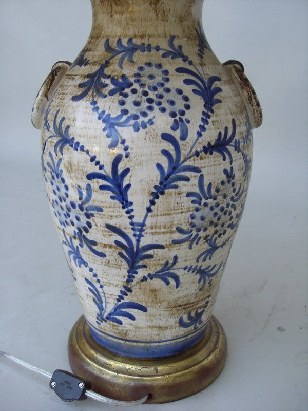 Williamsburg Blue and White Lamps | 1920 Italian Ceramic Blue and White Lamp For Sale | Antiques.com ...