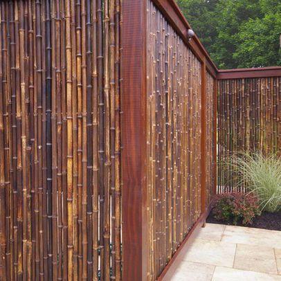 Bamboo fence - for a tropical garden