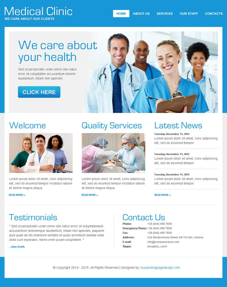 converting html website template for medical services