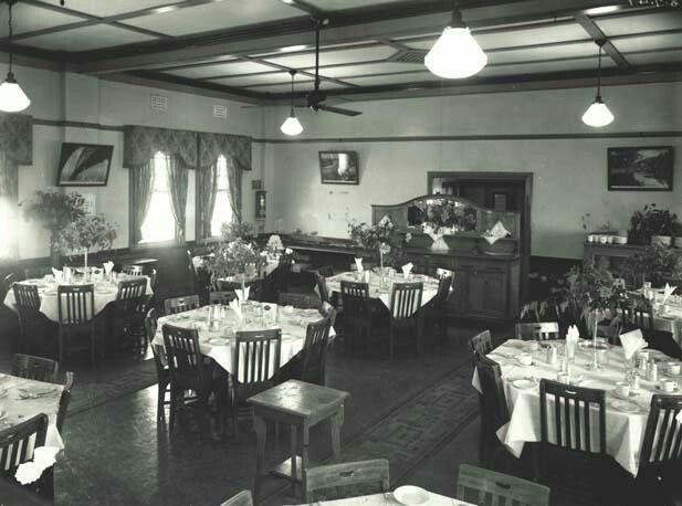 Casino Railway Station Refreshment Room in 1947.