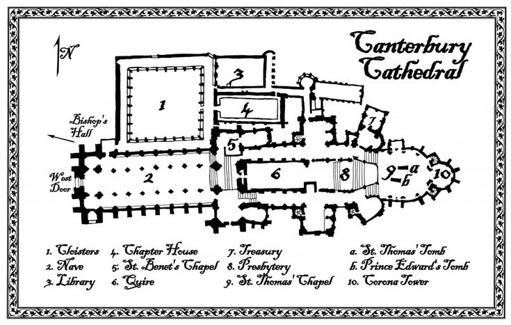 Canterbury cathedral floor plan floorplan of canterbury Canterbury floor plan