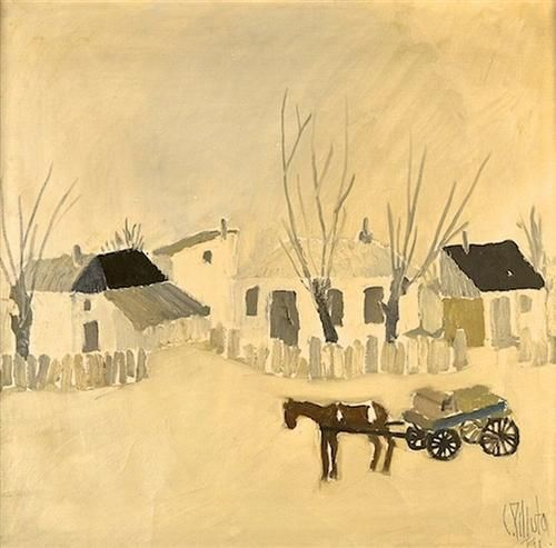 Winter in the Village - Constantin Piliuta