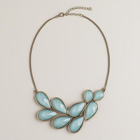 Mint Bead Bib Statement Necklace | World Market
