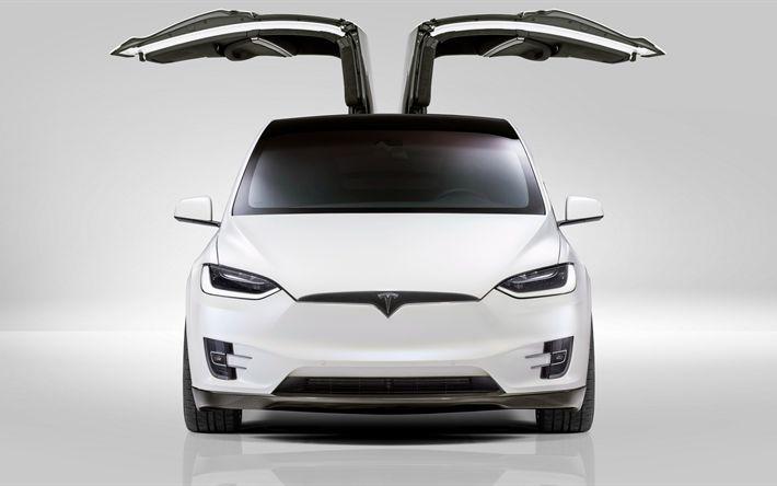 Descargar fondos de pantalla 4k, el Tesla Model X, 2017 coches, coches eléctricos, Novitec, Tesla