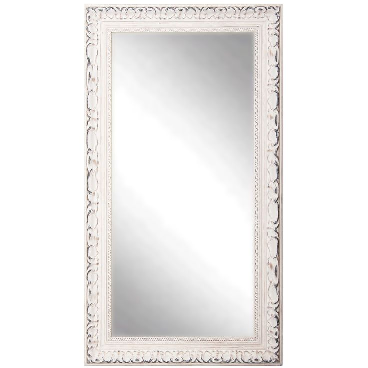 Hang or lean this elegant full-length mirror up against a wall for a stylish accent piece that fits into any decor.