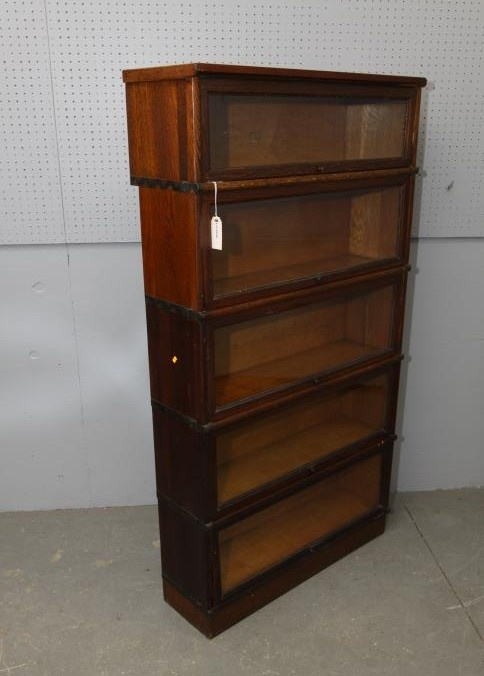 Five Part Barrister Bookcase One Marked Quot Macey 98 Quot 34 Quot X10 Quot X68 Quot T Overall Pickup Only Antique