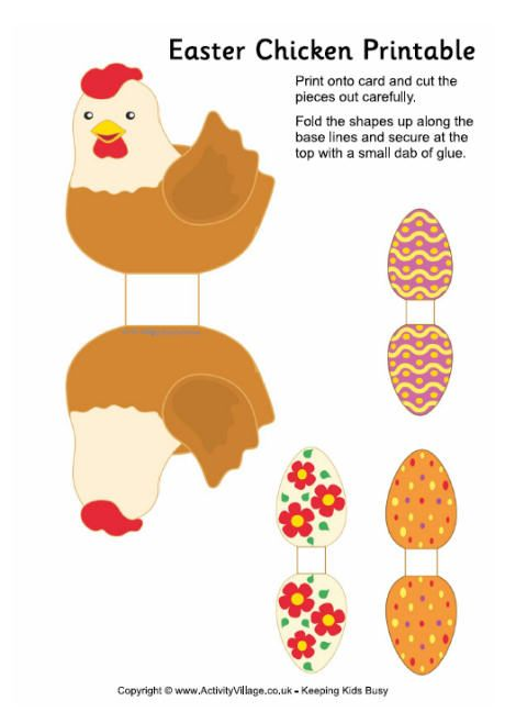 Easter chicken printable