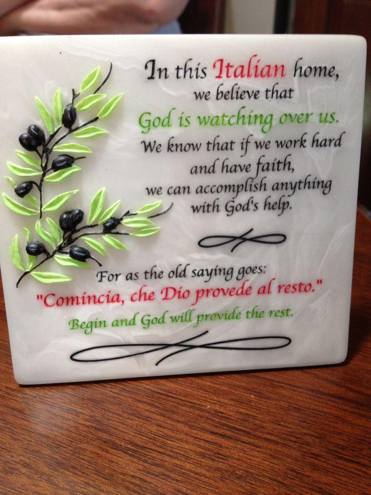 Italian saying