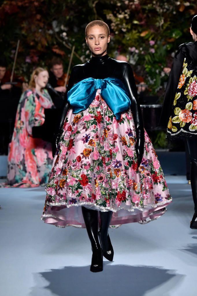 Adwoa Aboah Walks The Runway At The Richard Quinn Show During London Fashion Bold Fashion London Fashion Week Street Style