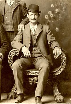Butch Cassidy, a notorious American train robber, bank robber & leader of the Wild Bunch Gang.