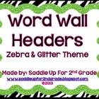 This is a set of  square zebra and glitter word wall headers (A-Z). Check out my store to see other zebra and glitter themed items. ...