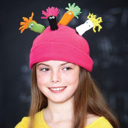 Monster Hats (girls)  http://familyfun.go.com/crafts/holiday-seasonal-crafts/winter-crafts/more-winter-crafts/pint-size-pals-973697/#