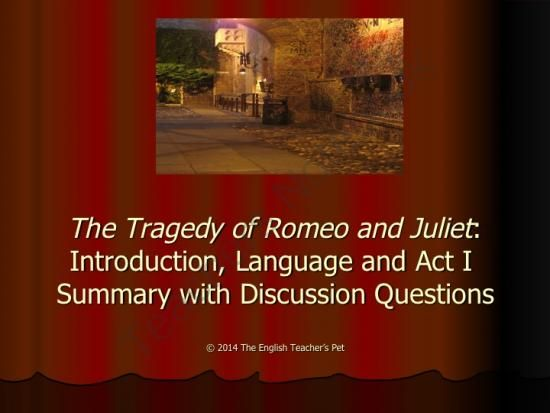 romeo and juliet introduction powerpoint with act i
