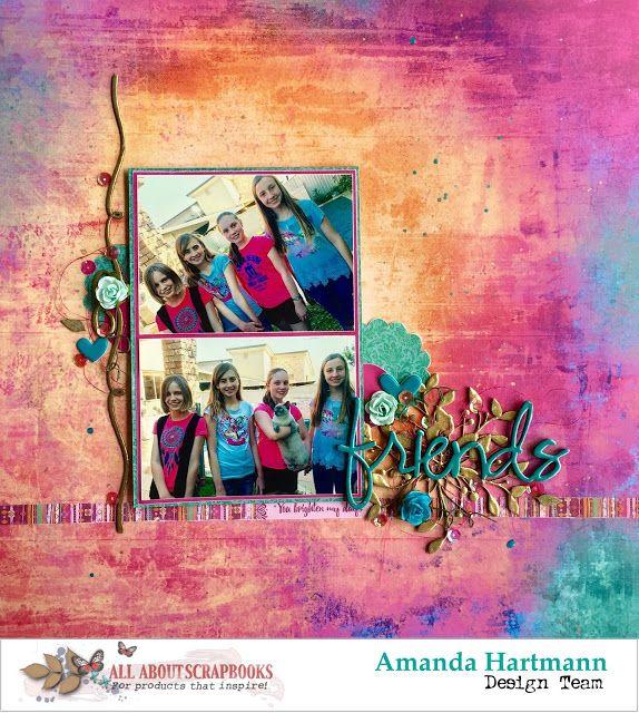 "All About Scrapbooks Australia: ""Friends"", featuring Kaisercraft Bombay Sunset, by..."