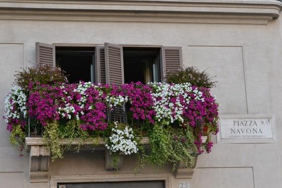 On a balcony... Navona Square