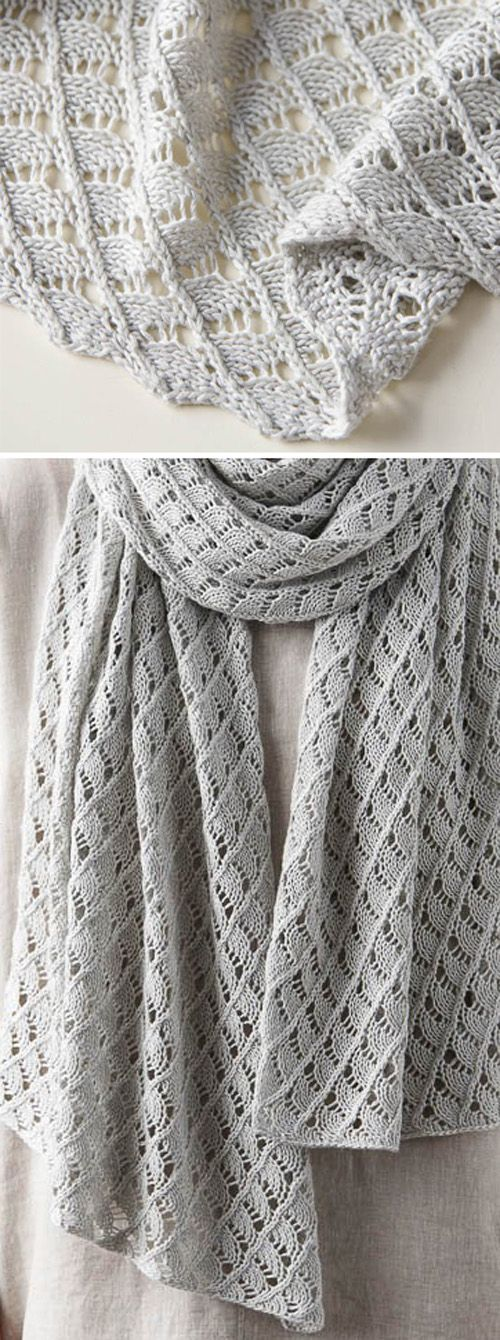 Little Moons Lace Wrap – Free Knitting Pattern