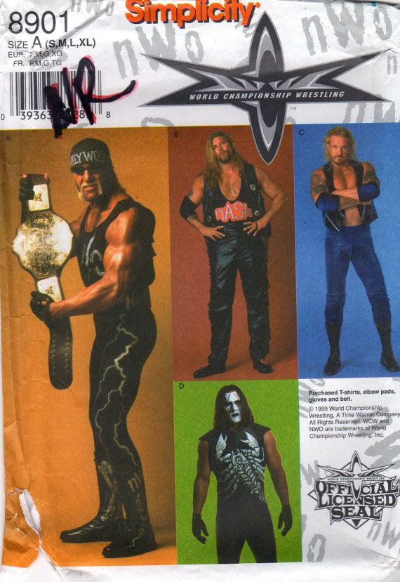 Simplicity 8901 Mens World Championship Wrestling by mbchills, $30.00