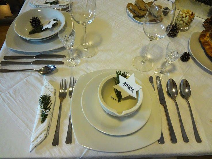 Kámen úrazu: Bílé Vánoce - i bez sněhu ;) / christmas table