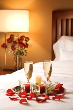 Decorated The Wedding Night Valentine Hotel Room