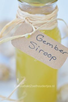 Gembersiroop kun je supersnel maken met dit recept.  Easy ginger syrup, read this how to.