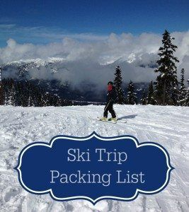Ski trip packing list to make sure you have everything you need on your next ski vacation.