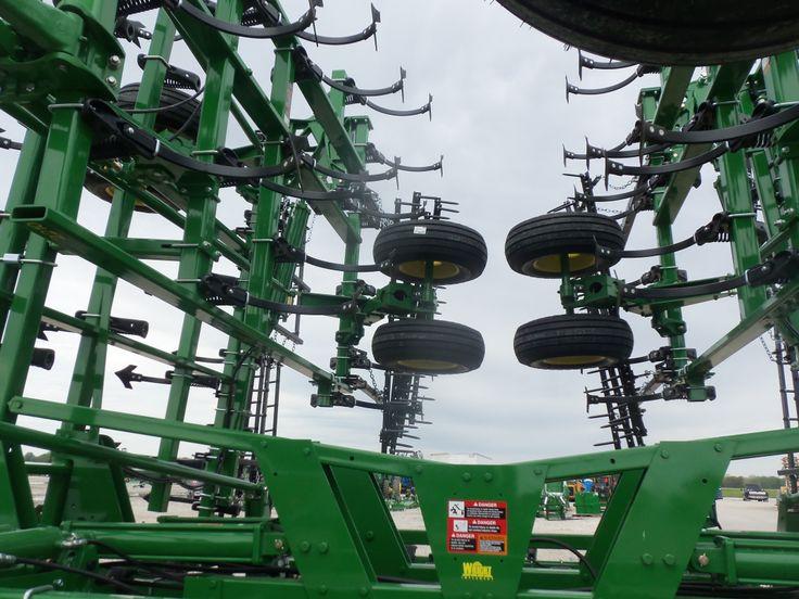 Looking thru rear of John Deere 2210 field cultivator