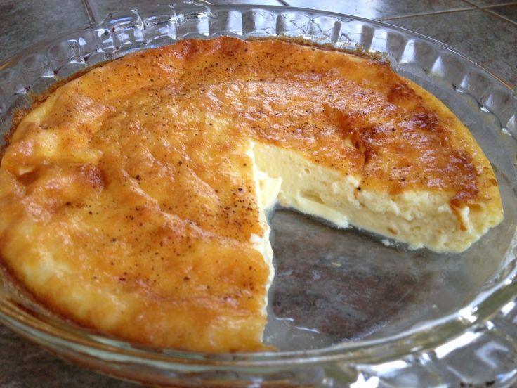 LCHF - Low Carb Recipes: Low Carb Egg Custard Pie