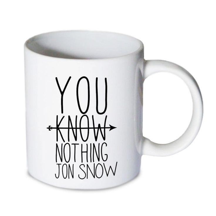 Coffee mug - You Know Nothing Jon Snow Q Mug - Custom Coffee mug - Ceramic mug by babydragonshop on Etsy  #mug #harry #potter #mugs #cups #coffee #tea #hot #sublimation #quote #gift #birthday #custom #lyric #band #mom #sister #men #women #11oz #Ceramic #white #belcher #burger #yonce #beyonce #jon #snow #hogwart
