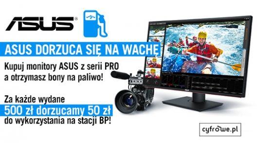 Kup monitor ASUS z bonem na paliwo w prezencie!