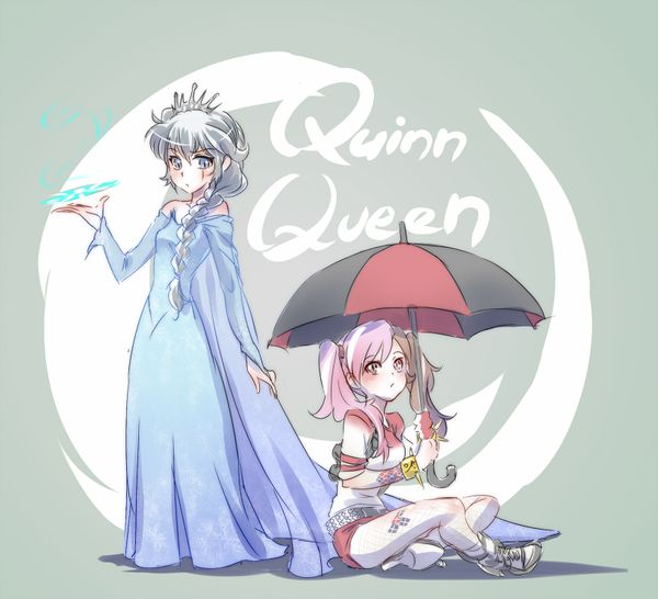 Weiss As Elsa And Neo As Harley Quinn