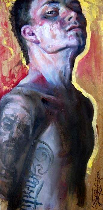 Self portrait with Malczewski