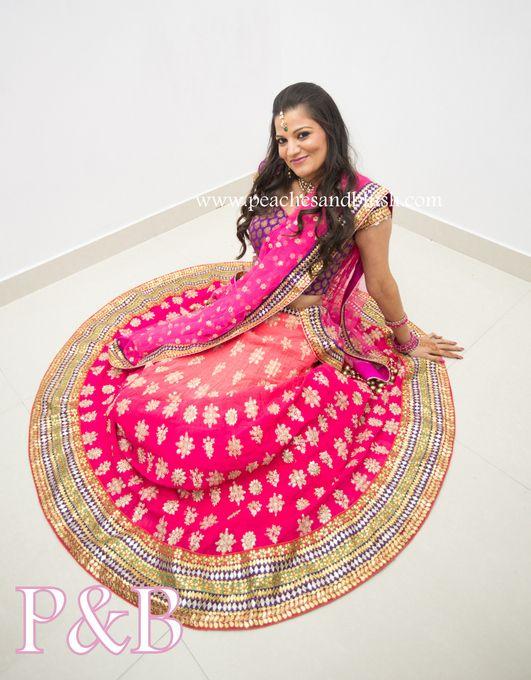 #pink #lehenga #wedmegood