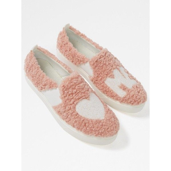 Aldo Loveawen Faux Fur Slip On Trainer ($81) ❤ liked on Polyvore featuring shoes, sneakers, slip on trainers, pull on sneakers, aldo sneakers, slip on sneakers and faux fur shoes