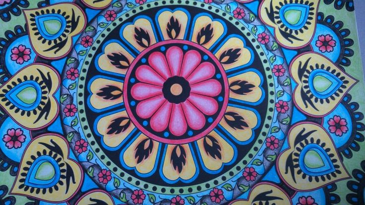 Complete! #arttherapymag #colouring #mandalas