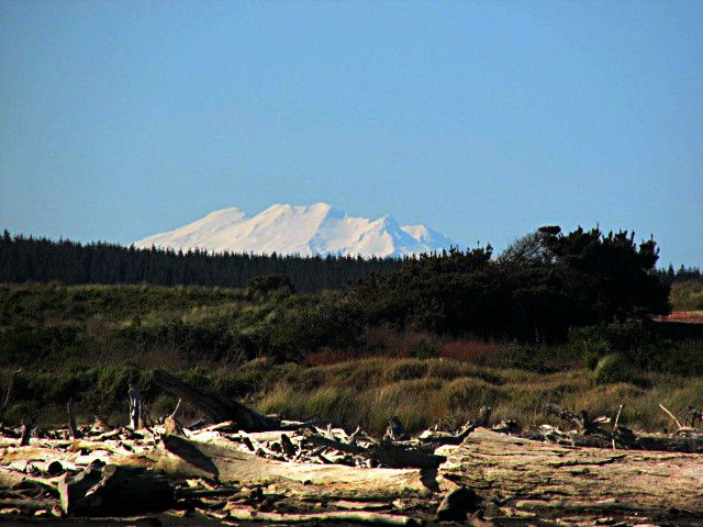 Mount Ruapehu from Koitiata Beach, Rangitikei